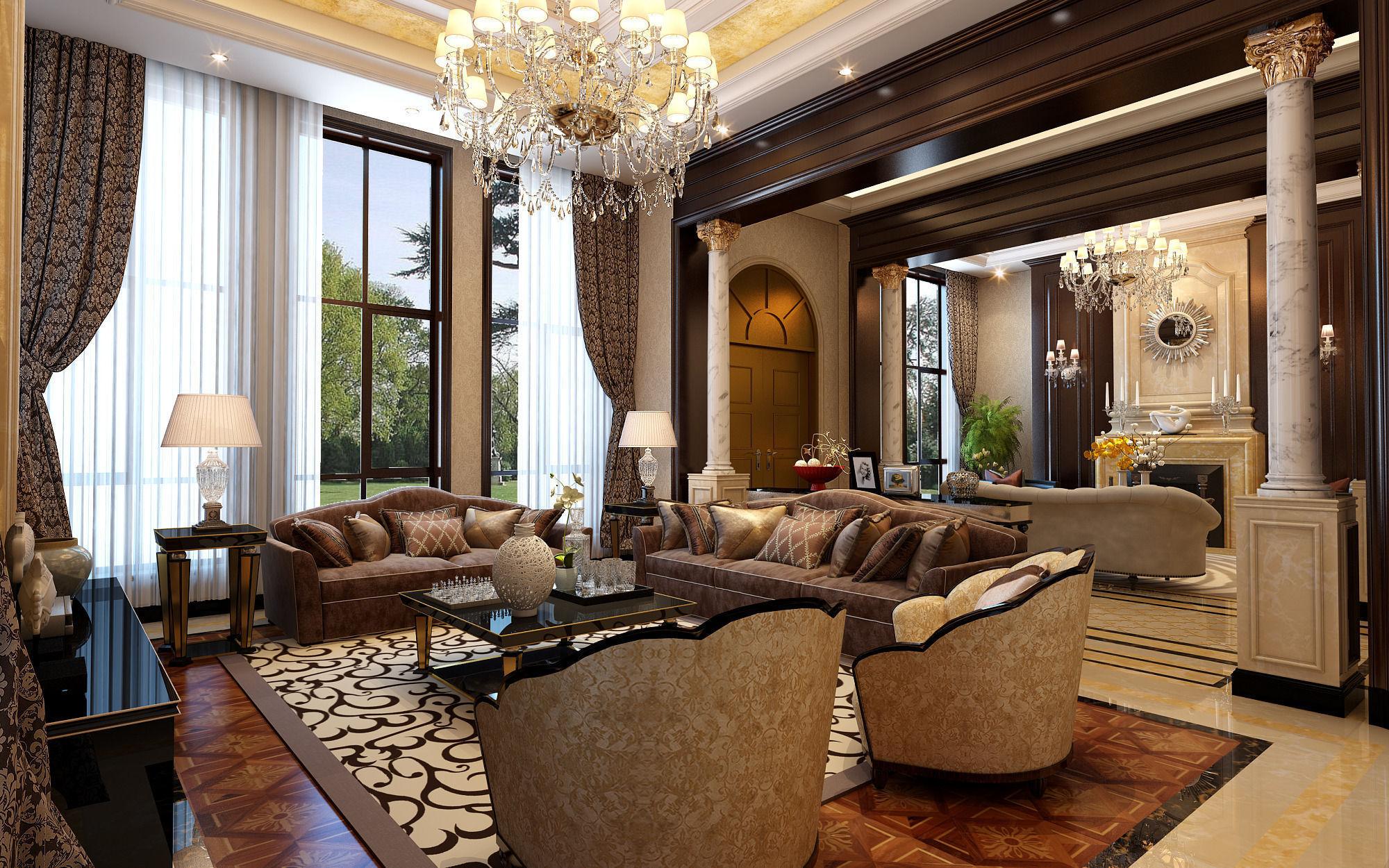 Realistic Living Room Design 028 3d Model Max