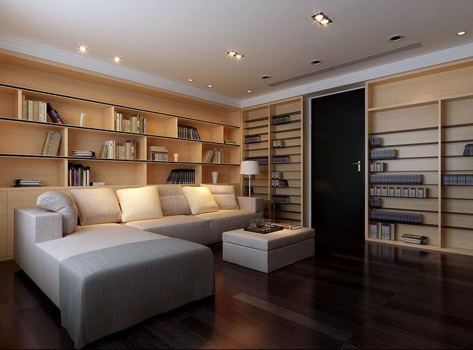 Realistic Lounge Room Design 050 3d Model Cgtrader