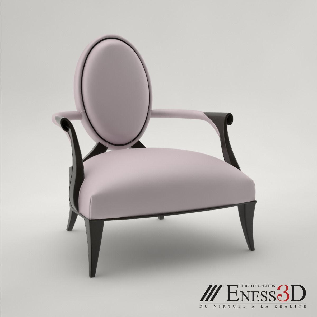 Christopher Guy Furniture Pro Armchair Villepin 60 0310 Christopher Guy 3d Model Max Obj Fbx