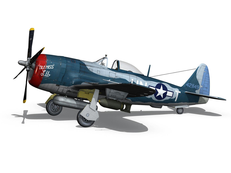 Republic P 47 Thunderbolt Ole Miss Lib 3d Model Obj Fbx