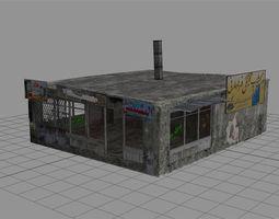 game-ready 3d asset  arab city building - building b