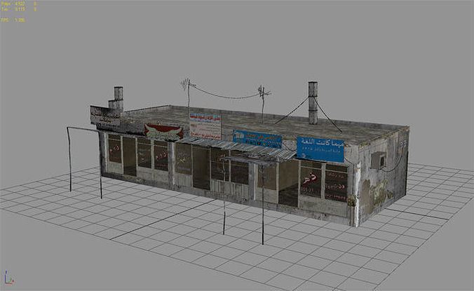 3d model arab city building building c vr ar low for Build house online 3d free