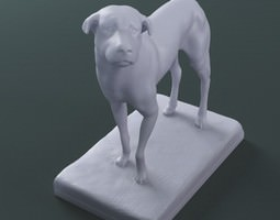 3d printable sculpture the lost dog stl collada dae