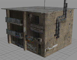 Arab City Building - Building E 3D model