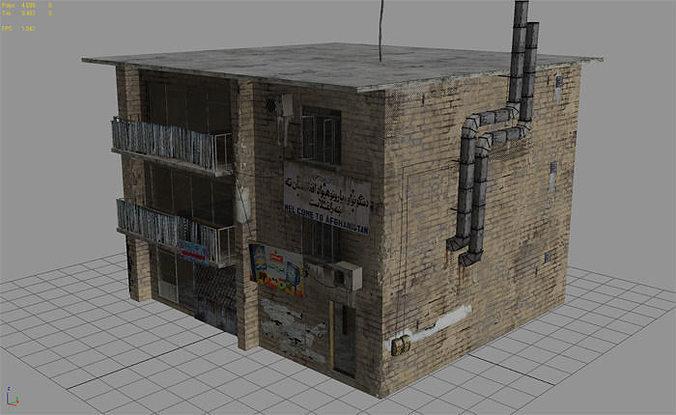 Arab City Building Building E 3d Model Low Poly Max Obj 3ds Fbx Dae