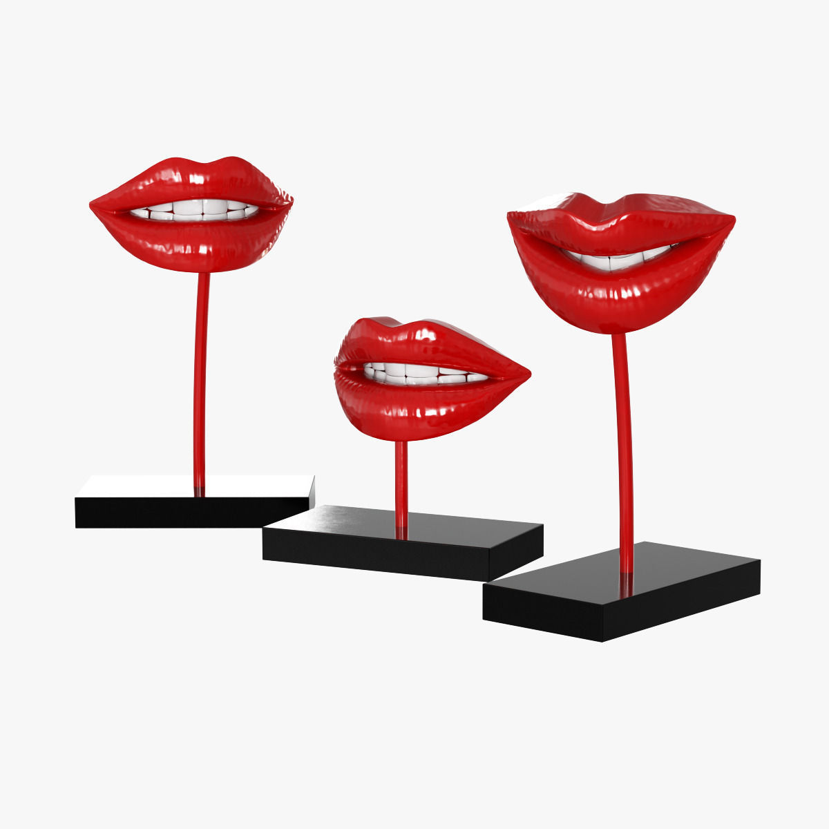 Figurine Lips red