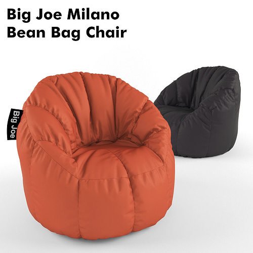Joe Milano Bean Bag Chair 3d Model Max Fbx 1