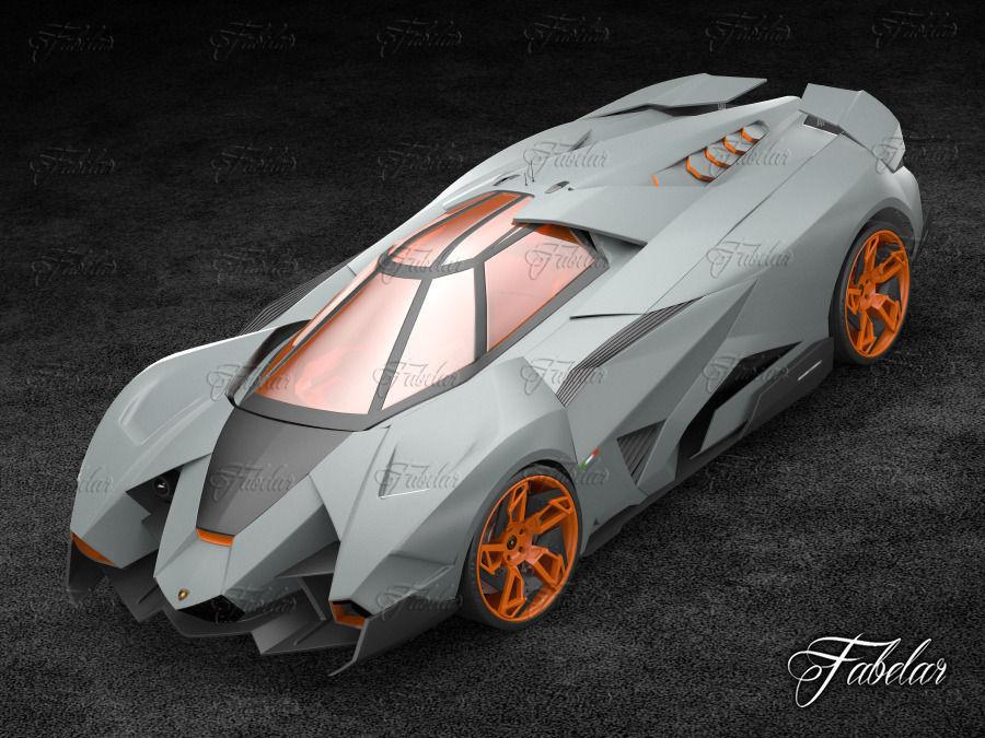 ... Lamborghini Egoista 3d Model Rigged Max 3 ...