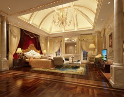 3D Luxury Bedroom Photoreal
