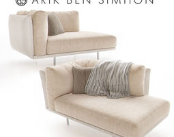 3d model lederman chaise lounge by arik ben simhon