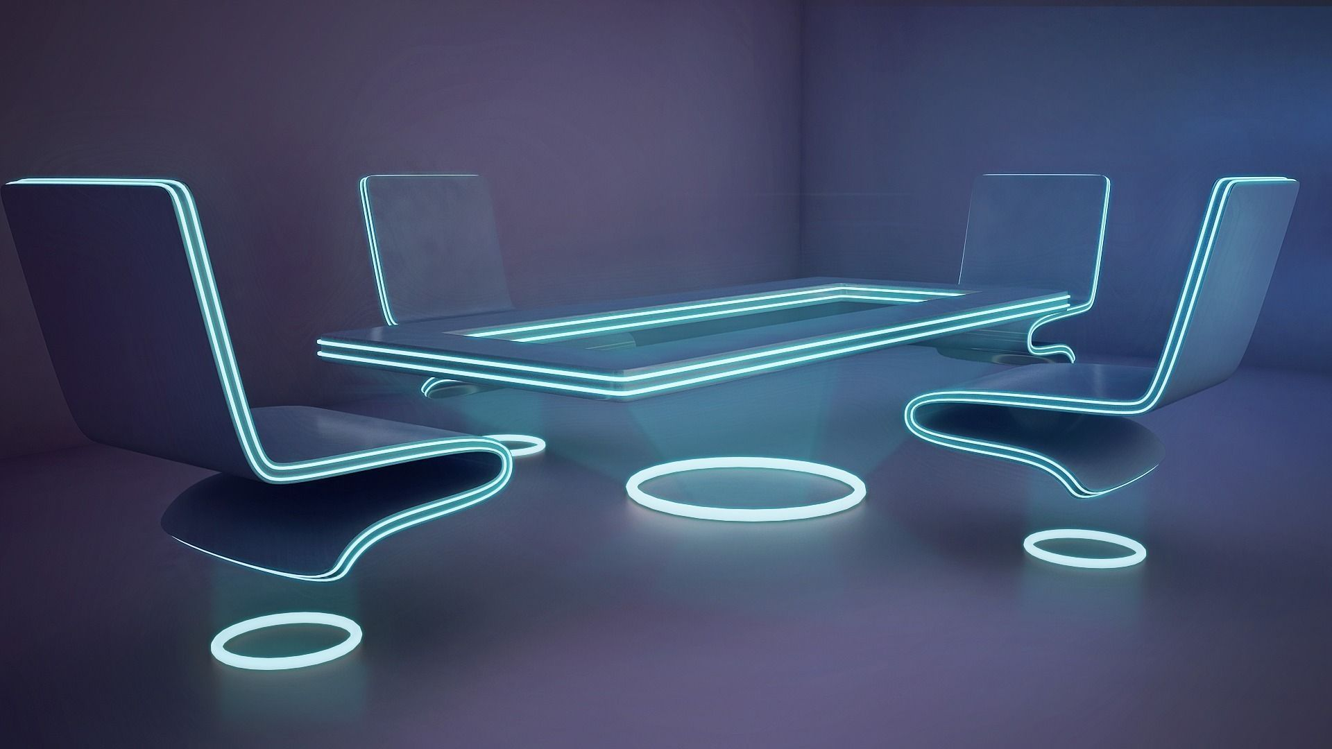 3d Model Futuristic Office Furniture Cgtrader