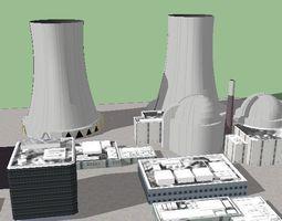 nuclear power plant 01 3d printable model