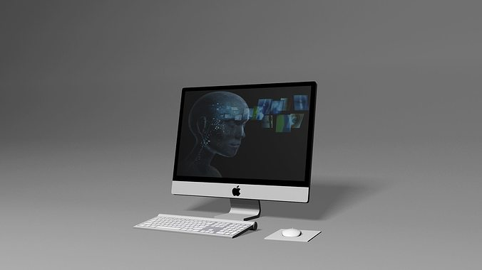 apple pc desktop 3d model max 1