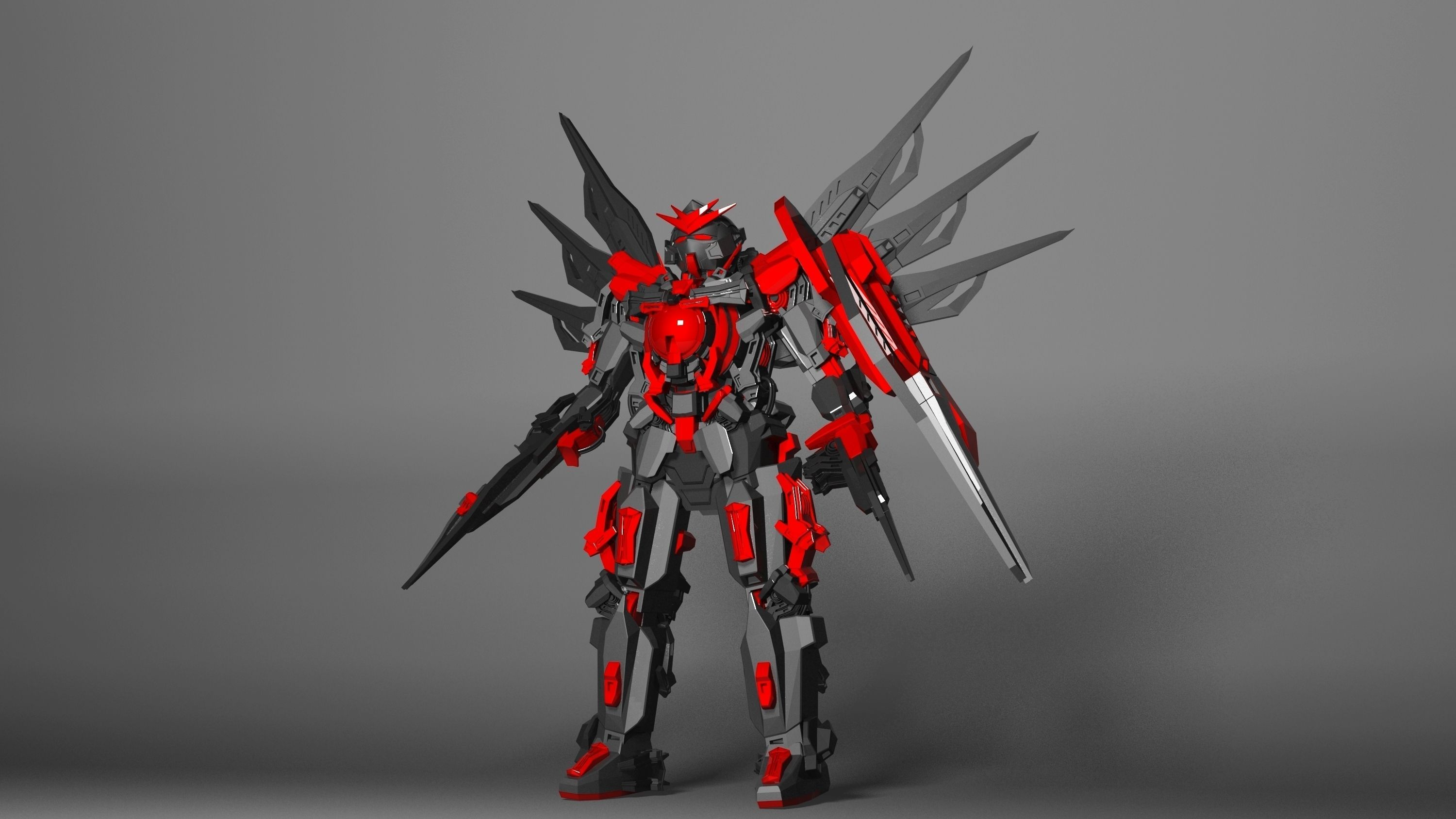 Best Buy Military Discount >> red gundam 3D asset | CGTrader