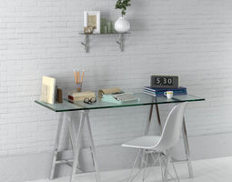 office set 19 AM149 3D model
