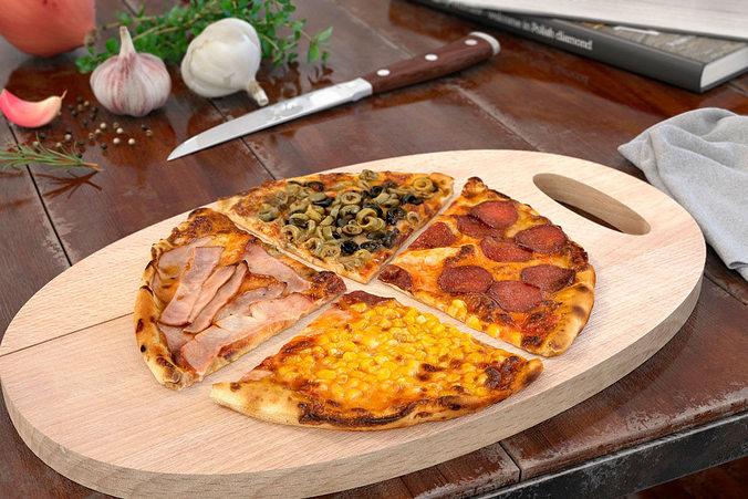 pizza 37 am151 3d model max obj fbx c4d mtl 1