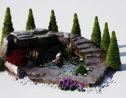 3D garden pond 12 AM148