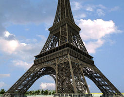 3D Eiffel Tower High Detailed
