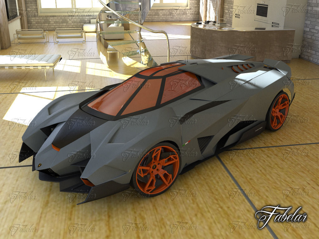 Marvelous ... Lamborghini Egoista And Environment 3d Model Max 3 ...