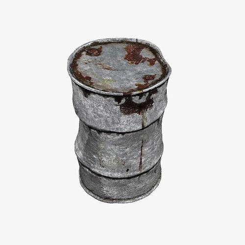 rusty barrel highpoly 3d model max obj mtl fbx lwo lw lws hrc xsi blend 1