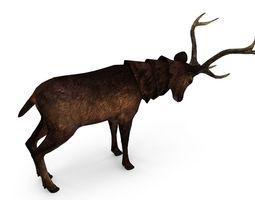 3D asset Deer low poly