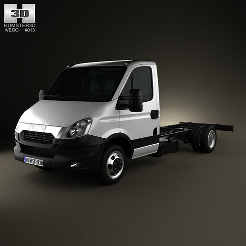iveco daily single cab chassis 2012 3d model max obj 3ds fbx c4d lwo lw lws 1