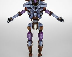 Robot animated and rigged 3D asset
