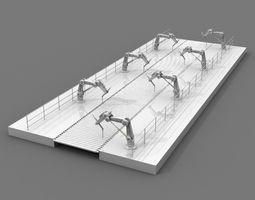 robotic assembly line 3d model