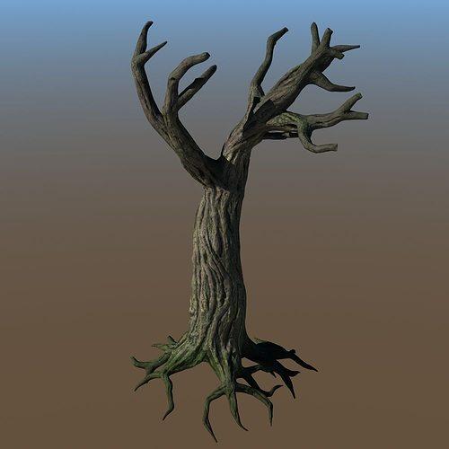 spooky tree 3d model max obj lwo lw lws ma mb hrc xsi blend