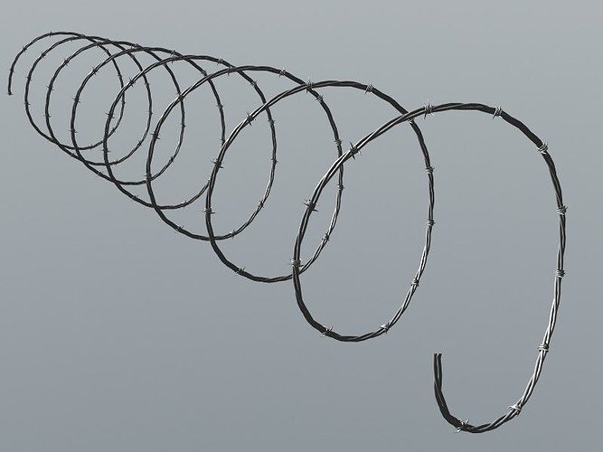 barbed wire 2 3d model max obj mtl 3ds fbx lwo lw lws ma mb 1