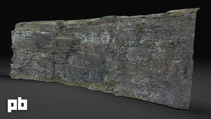Rock Cliff 1 3d Asset Cgtrader