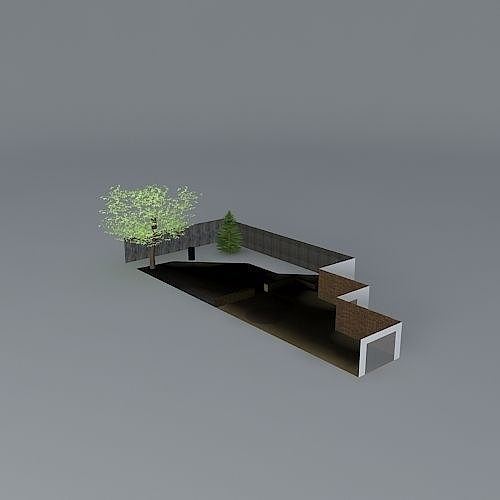 Garden design without grass free 3d model max obj 3ds fbx for Garden design in 3ds max