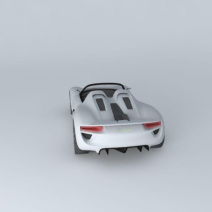 Porsche 918 Spyder Concept: Porsche 918 Spyder Concept 2010 Free 3D Model MAX OBJ 3DS