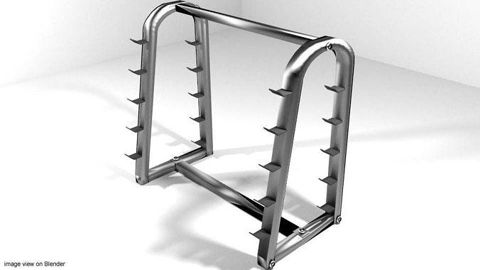 exercise storage barbell rack 3d model obj mtl 3ds lwo lw lws blend dae 1