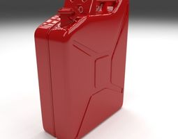 jerry can red realtime 3d model
