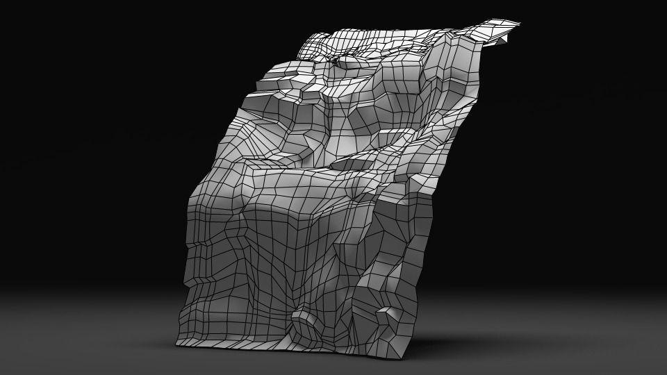 waterfall 3D Model Game ready .obj .fbx .ma .mb .mtl .tga ...