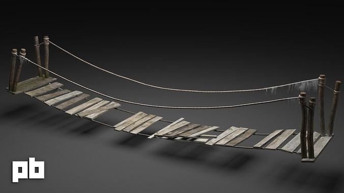 3d Model Old Bridge Cgtrader