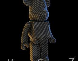 Carbon Body Kit BearBrick 3D model
