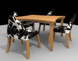 3D model cowpattern dining table