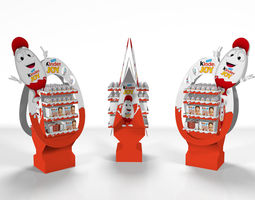 kinder joy free standing unit with textures game-ready 3d asset