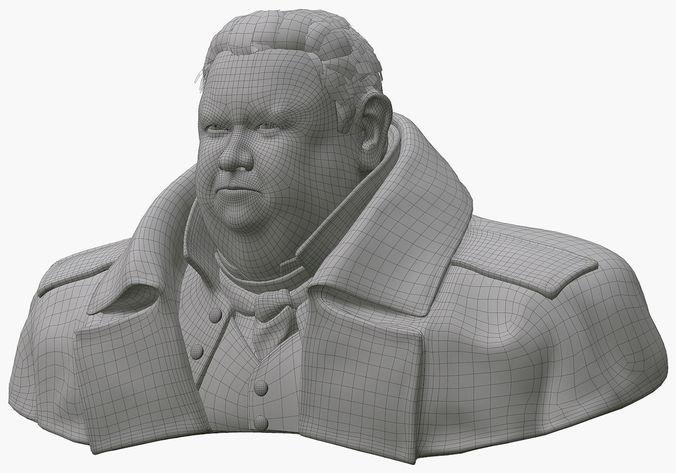 Free 3d models bust waist - 9e