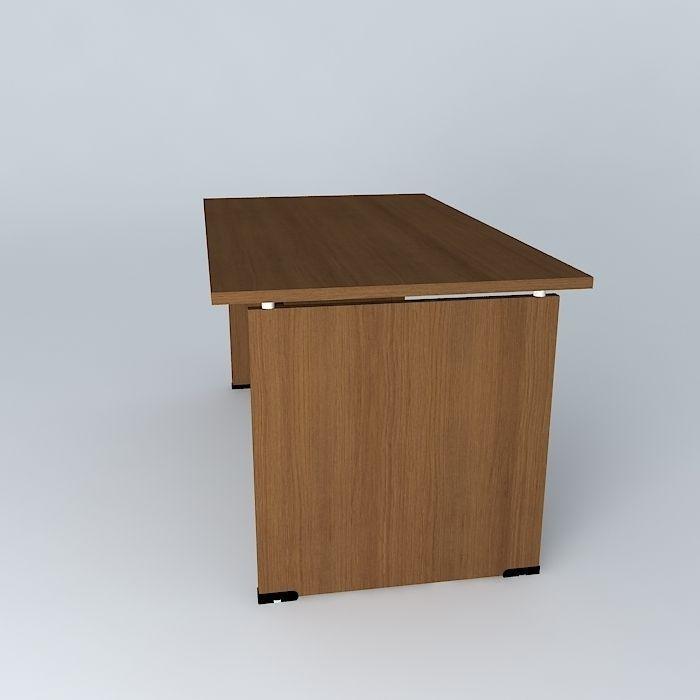Office Desk 1400x800x720mmh Free 3d Model Max Obj 3ds Fbx