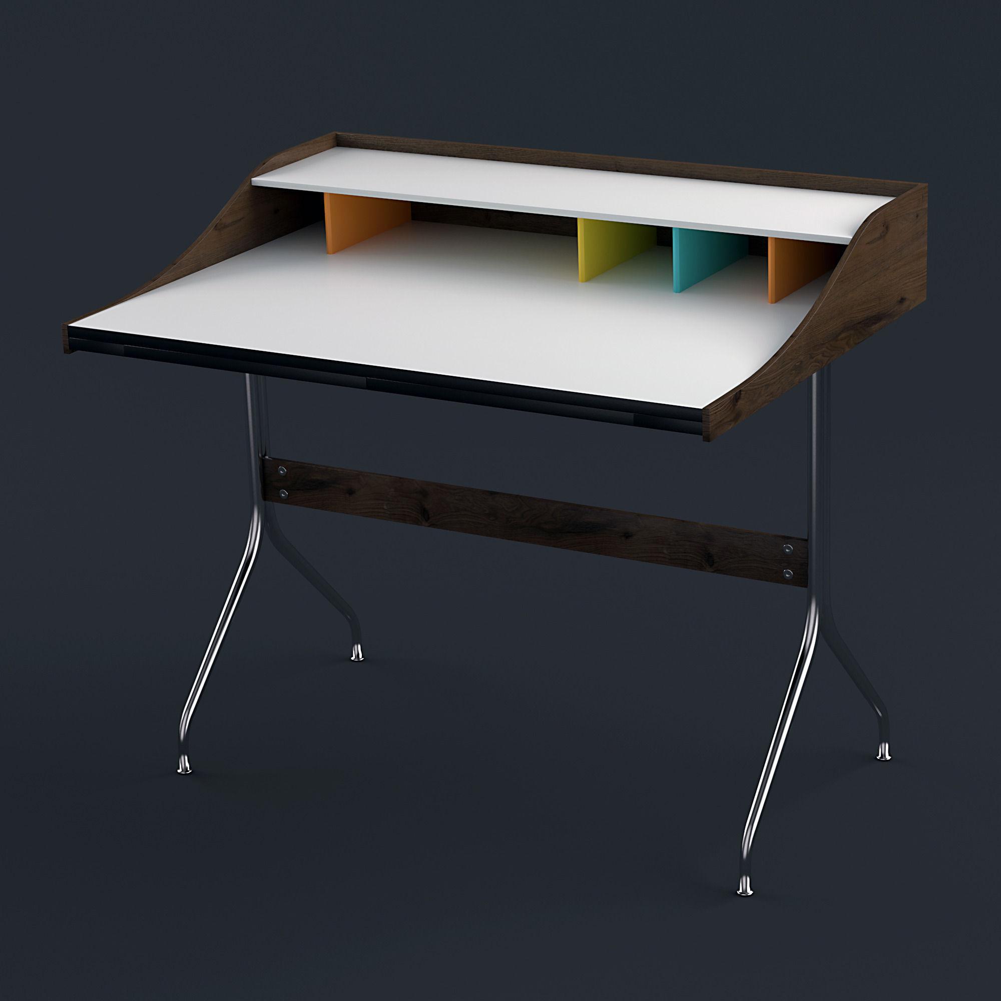nelson swag leg desk d model max obj ds fbx mtl - nelson swag leg desk d model max obj ds fbx mtl