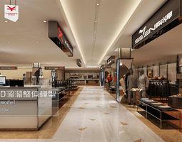3d model fashion showroom store design 21