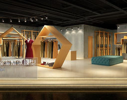 3d fashion showroom store design 03