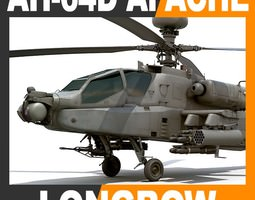 ah-64d apache longbow attack helicopter 3d model max obj 3ds fbx c4d lwo lw lws