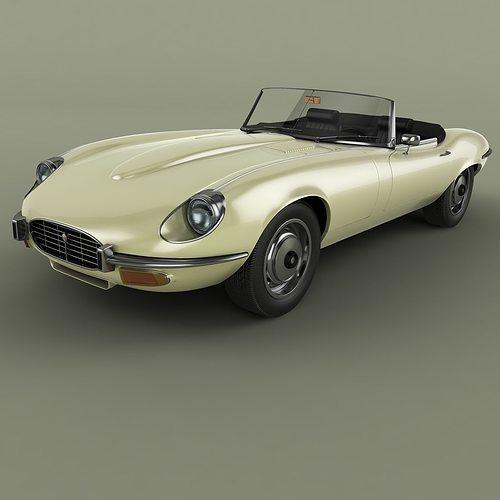 3d model jaguar e type series 3 v12 cabrio cgtrader. Black Bedroom Furniture Sets. Home Design Ideas