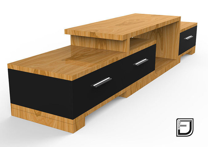 tv stand 3d model stand cgtrader. Black Bedroom Furniture Sets. Home Design Ideas
