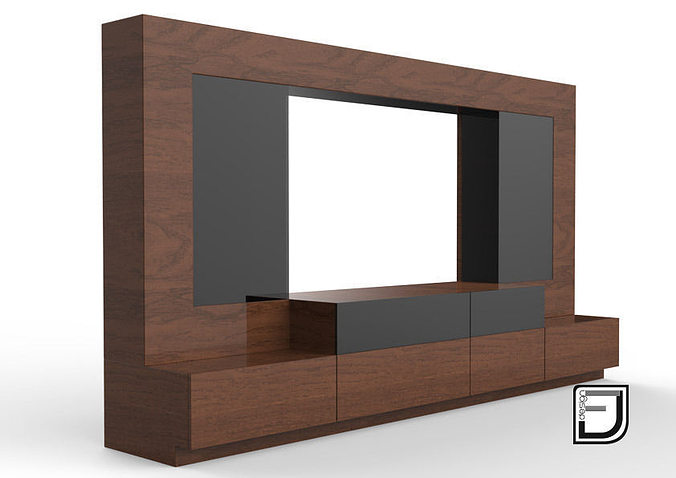 living 3D TV Stand  CGTrader -> Modèle Table Tv