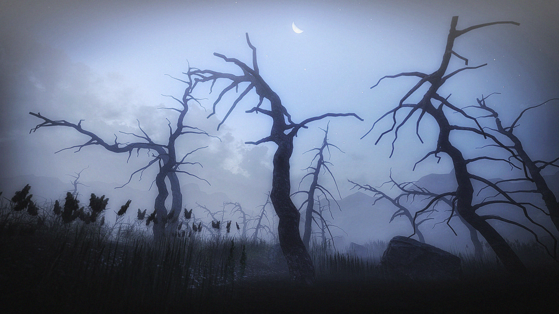 3d model 10 old spooky tree models for aaa and mobile games vr ar